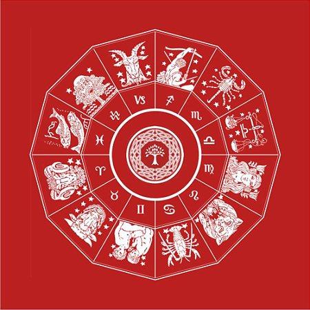 Toalha do Zodíaco - Vermelha
