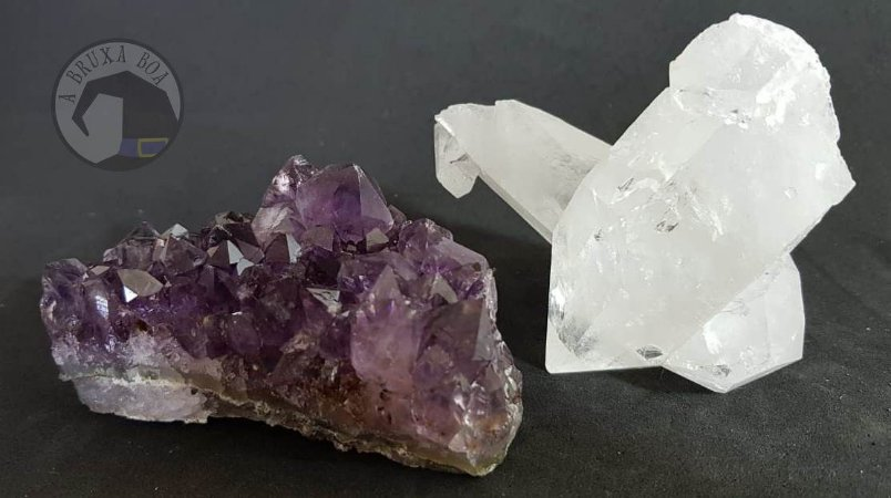 Kit Drusas - Cristal e Ametista