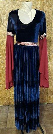 Vestido Renascentista - Azul