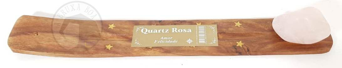 Incensário Régua - Quartzo Rosa