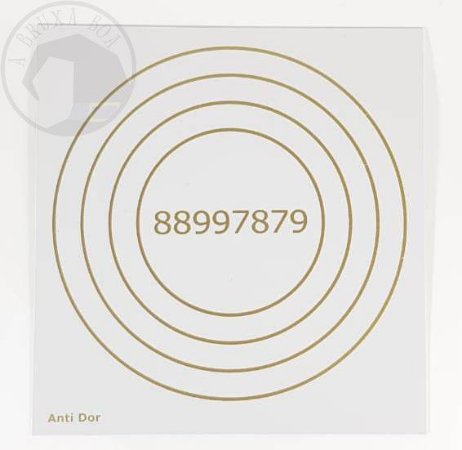 Gráfico Anti Dor - 14 x 14 cm