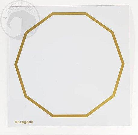 Gráfico Decágono - 14 x 14 cm