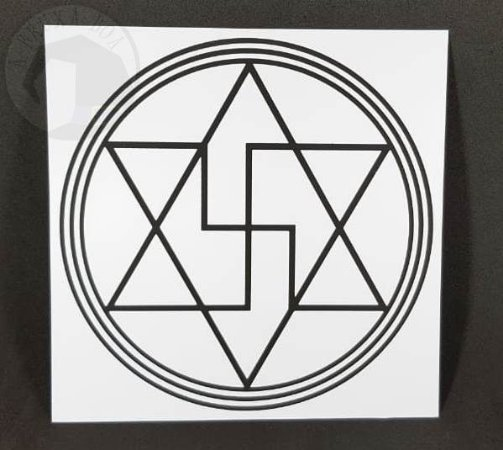 Gráfico Anti Magia - PVC - 17 x 17 cm