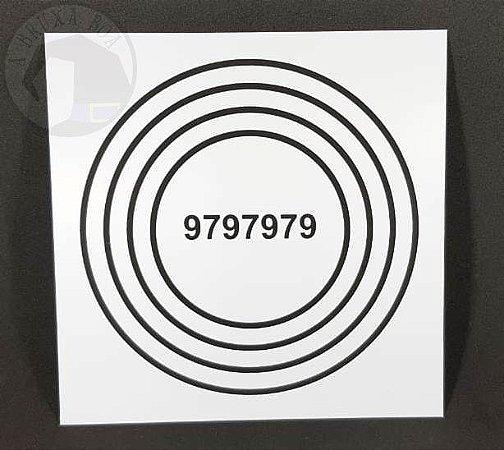 Gráfico Alta Vitalidade - PVC - 17 x 17 cm