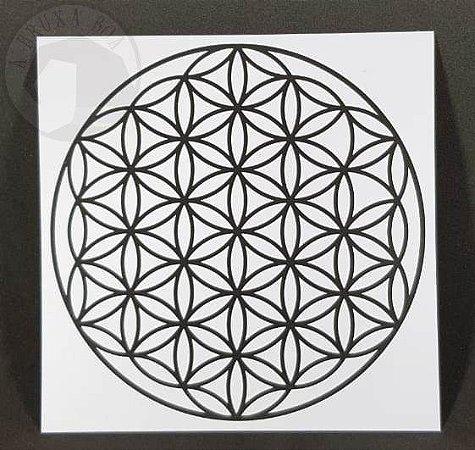 Gráfico Flor da Vida - PVC - 17 x 17 cm
