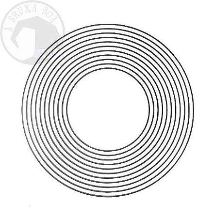 Gráfico Onze Círculos - PVC - 17 x 17 cm