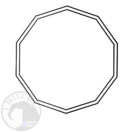 Gráfico Decágono - PVC - 17 x 17 cm