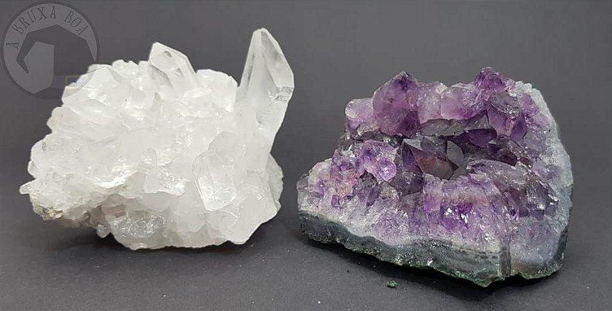 Drusas - Ametista e Cristal