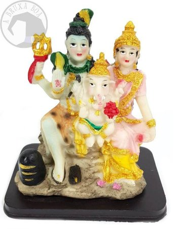 Família Hindu - Parvati/ Shiva/ Ganesha