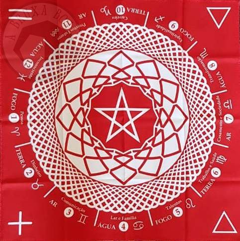 Toalha vermelha para tarot ou altar