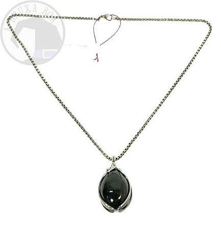 Amuleto - Ovo em Obsidiana
