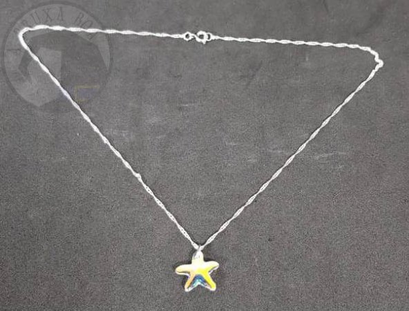 Gargantilha Estrela de Cristal - Cor Prata