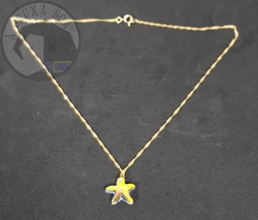 Gargantilha Estrela de Cristal - Cor Ouro