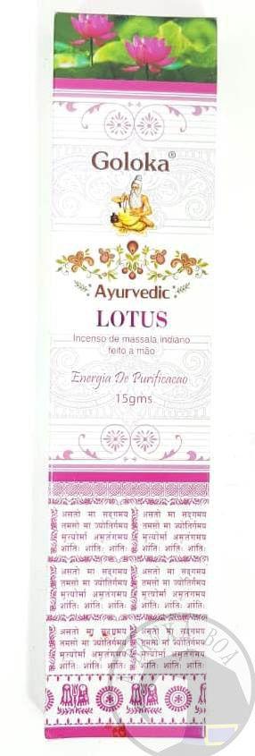 Goloka - Ayurvedic Lotus - Incenso Indiano de Massala - Energia de Purificação