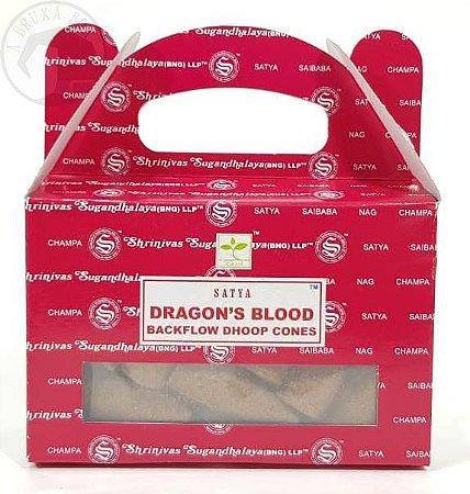 Incenso Dragon's Blood - Satya - Cone para Cascata (Sangue de Dragão)