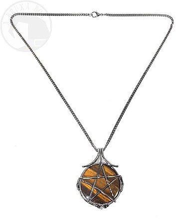 Amuleto - Pentagrama e Olho de Tigre