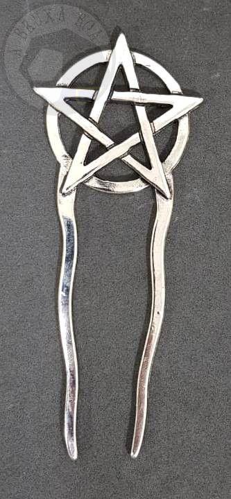 Prendedor de Cabelo - Pentagrama
