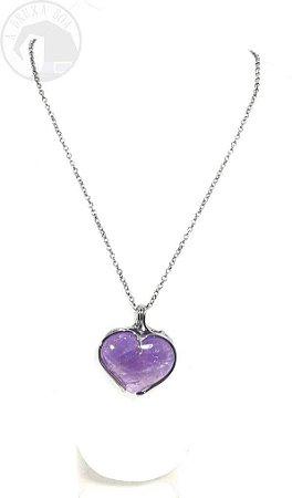 Amuleto - Coração de Ametista