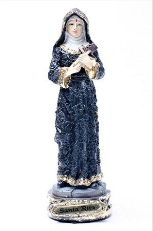 Imagem de Santa Rita de Cássia - 17cm - Dourado