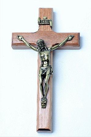 Crucifixo de Parede - 12cm - Madeira
