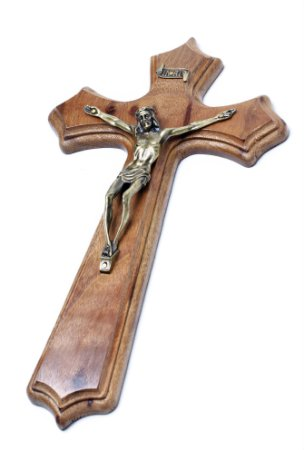 Crucifixo de Parede - 25cm - Madeira