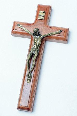 Crucifixo de Parede - 17cm - Madeira