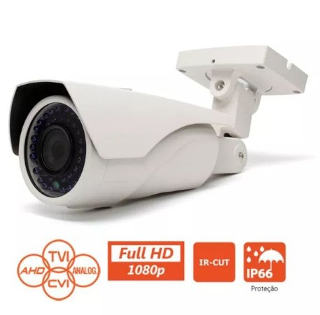 Câmera Varifocal Flex 4 em 1 MULTI HD 2.0 Megapixel FULL HD 1080p 100 Metros 5-50mm