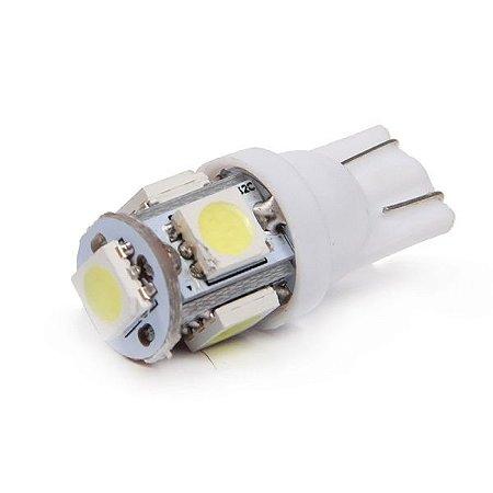 Lâmpada T10 5 LED (Pingo - W5W) - Par (2 unidades)