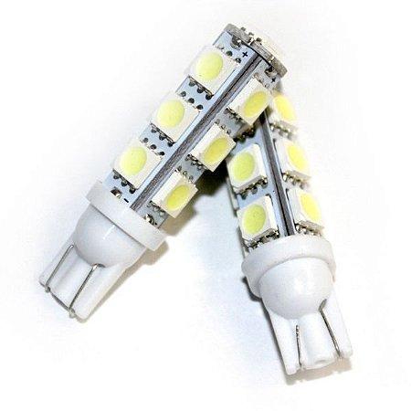 Lâmpada T10 13 LED's (Pingo - W5W) - Par (2 unidades)