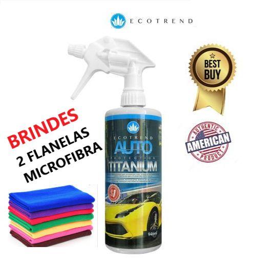 Auto Protection Titanium 946ml  + Brinde (2 flanelas de Microfibras + 1 Aplicador (Grátis) - Limpa, cristaliza e protege em média 10 veículos sujos ou 15 limpos