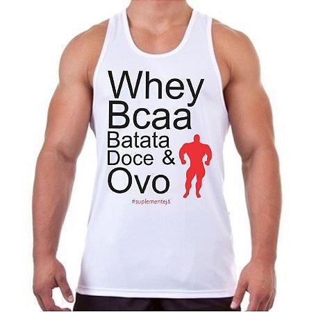 REGATA MASCULINA WHEY BCAA BATATA DOCE & OVO