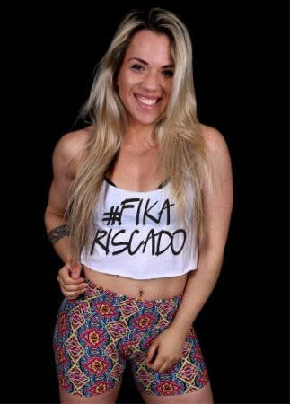 REGATA TOP CROPPED FIKA RISCADO