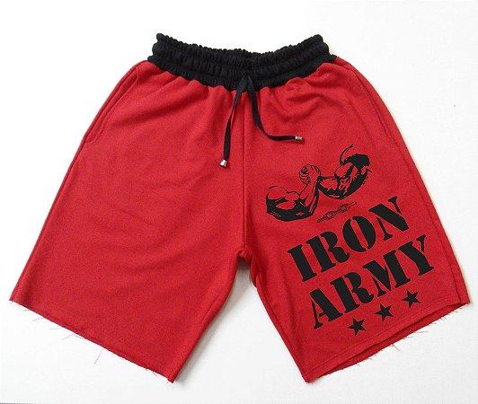 Bermuda Moletom Iron Army