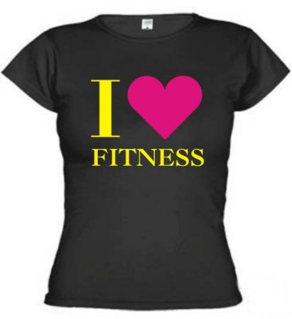Camiseta Baby Look I Love Fitness