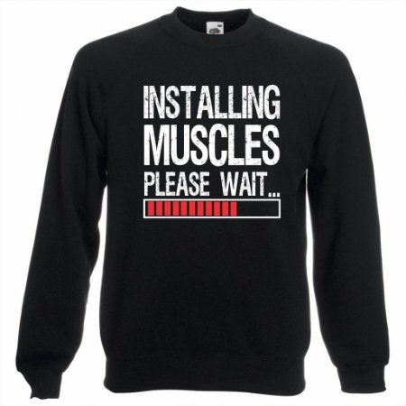 Blusa de Moletom Installing Muscles Please Wait...