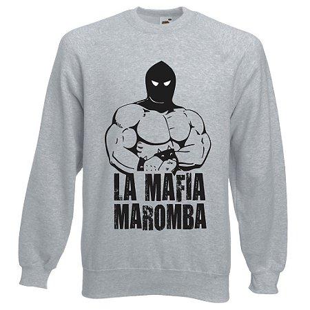 Blusa de Moletom La mafia Maromba cor Cinza