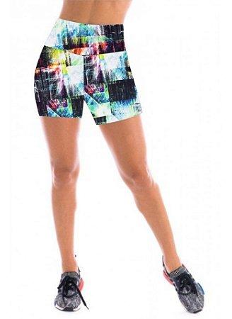 Short de academia feminino Cintura Alta - CD:2110