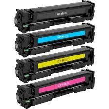 Kit 4 cores Toner CF400X CF401 CF402 CF403 201X Preto HP Pro M277 M277DW M252 M252DW Compatível 2.8K