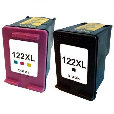 Kit Cartucho Compatível HP 122XL Preto e Colorido