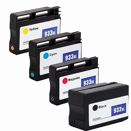 Kit Cartucho 932XL 933XL Compativel HP CN054A CN055A CN056A CN057A