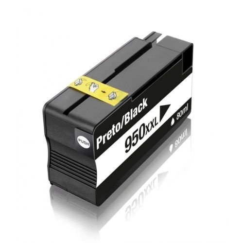 Cartucho HP 950xl Black CN045AL 950 8600W 251DW Compatível 2.3K