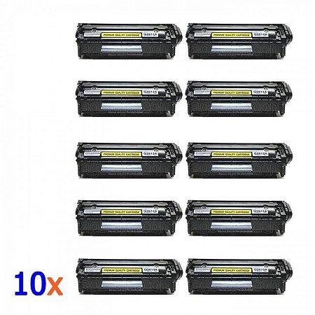 Toner Q2612A Q2612 12A Compativel - 10 Unidades uso HP 1010 1012 1015 1018 1020 1022 3015 3020 3030 3050 M1005mfp