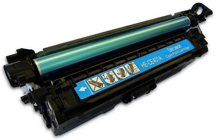 Toner CE401A CE251A 401A 251A Azul 507A HP M575 M551 CE251A 251A CM3530 CP3525 Compativel Universal