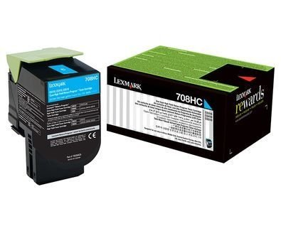 Toner Lexmark 70C8HC0 Azul 708HC CS510de CS310dn Original