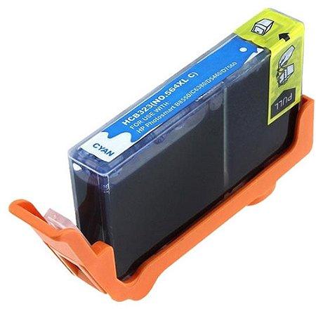Cartucho HP 564XL Cyan CB323WN B8550 C309 C5300 C6300 Compatível