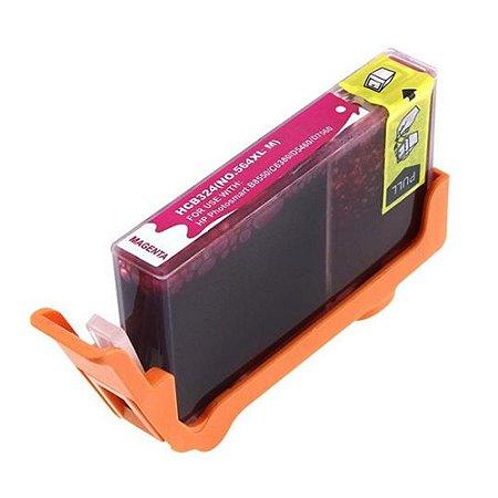 Cartucho HP 564XL Magenta CB324WN B8550 C309 C5300 C6300 Compatível