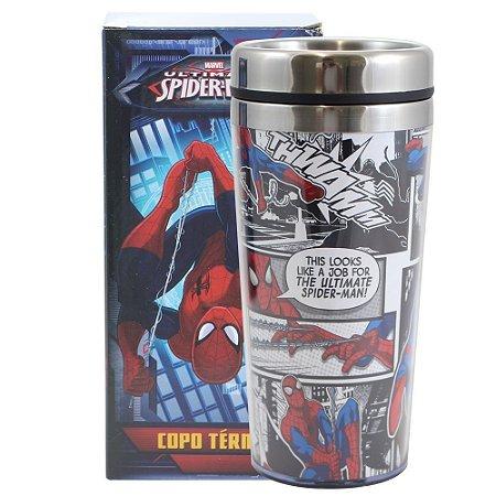 Copo Térmico com Tampa Marvel - Homem-Aranha