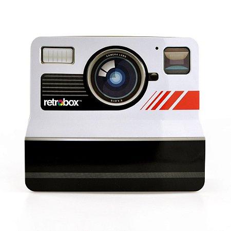 Caixa de Metal Câmera Retrô