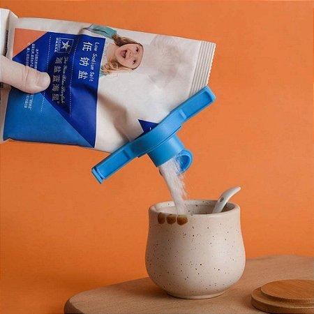 Fechador Lacre de Embalagens Presilha com Tampa