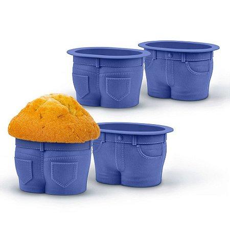 Forma para Cupcake Calça MuffinTops - 4 pecas